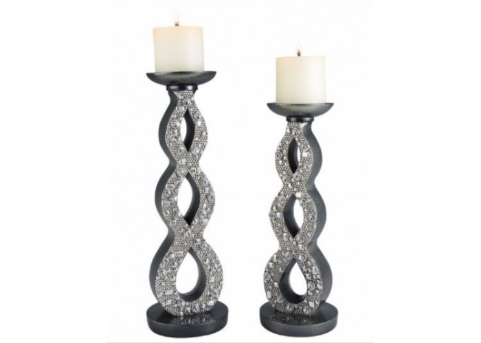 Silver Twilight Candle Holder